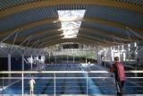 Konstrukcje pływalni w Haileybury School w Hertford pomalowane Synthatec